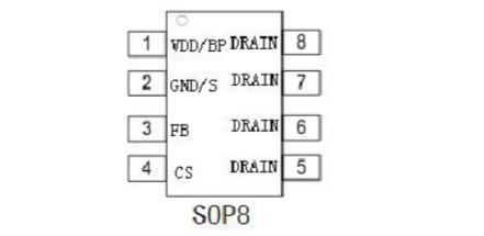 高压电源芯片XD308H中文材料(XD308H引脚图及功用_内部结构及使用电路)