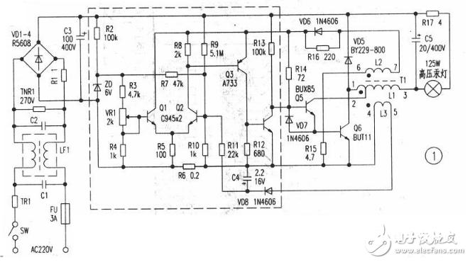 55w电子镇流器电路图大全(六款55w电子镇流器电路原理图详解)