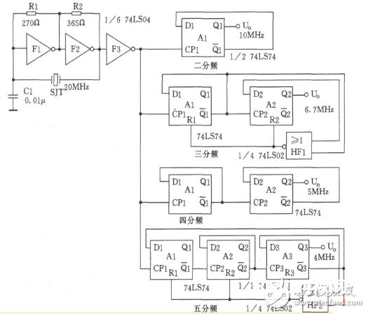74ls04中文材料汇总(74ls04引脚图及功用_内部结构及使用电路)