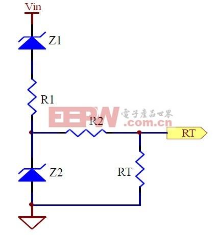 图1:高输入电压时降频作业电路